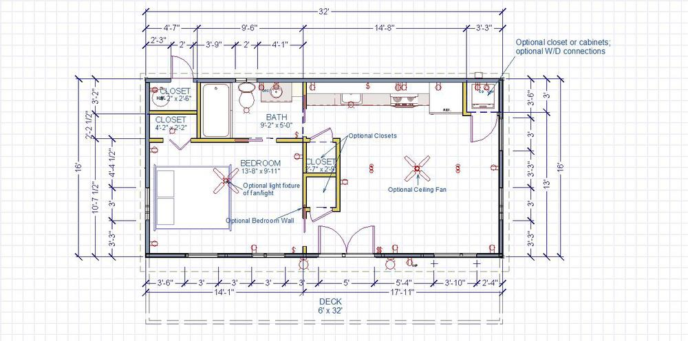 16x32 cabin plans joy studio design gallery best design for Cabin addition floor plans
