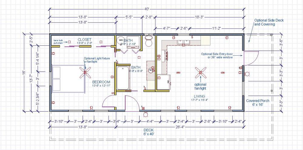 1 bedroom plan