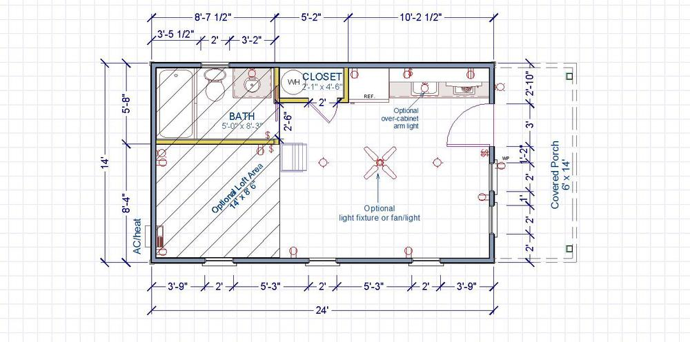 14 x 24 house plans home design and style On 14x24 cabin plans