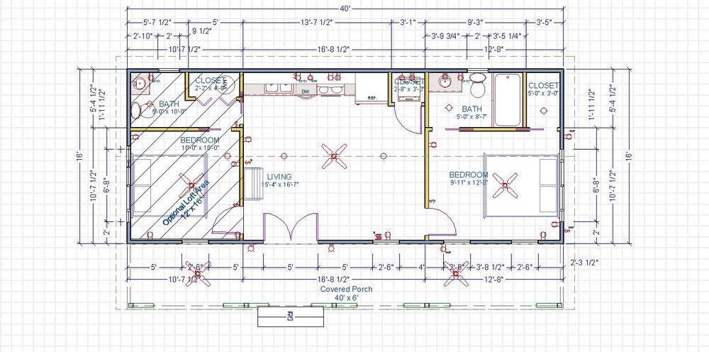 28 home floor plans 16x40 trend 16 x 40 kanga floor for 14 x 40 house plans
