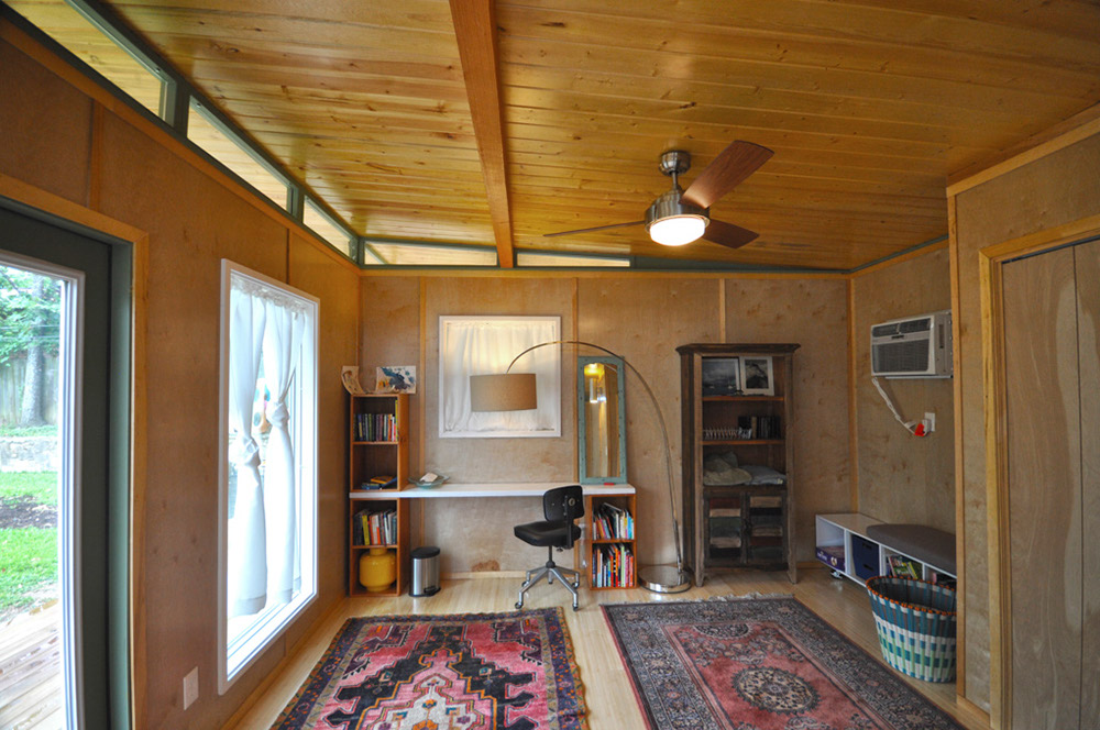 Modern Studio Luxe Shed 14x20 14x12 w Breezeway Kanga Room