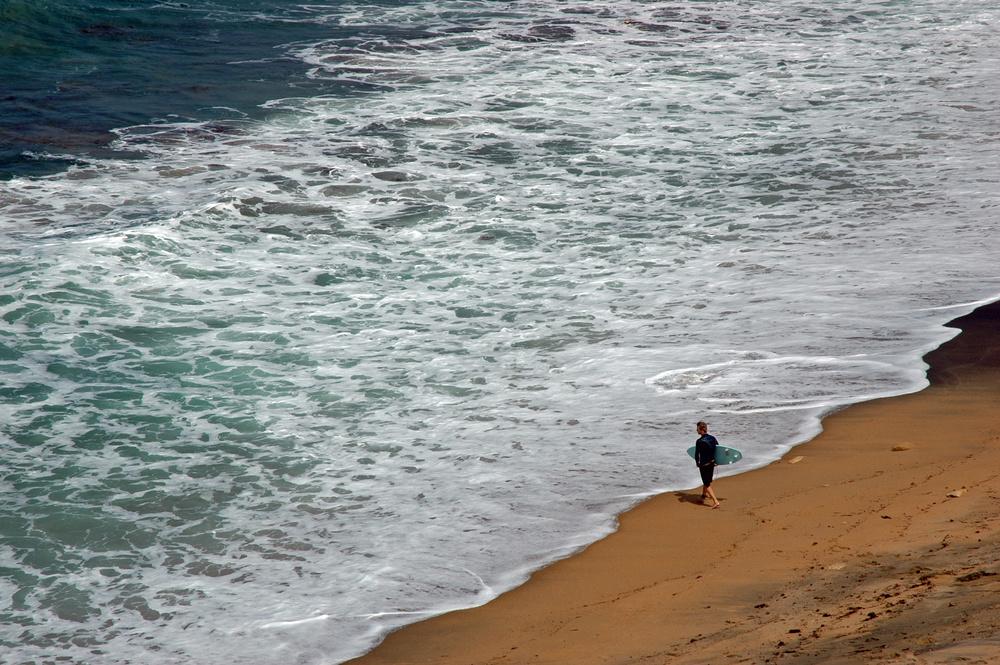 Das Warten auf große Wellen...
