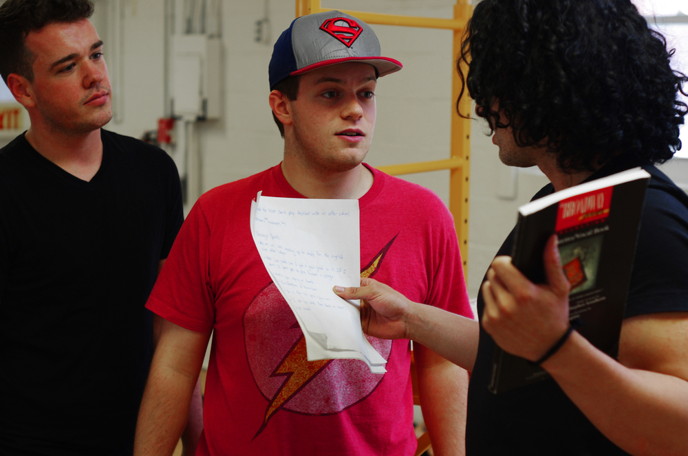 Dan Galyon as Crony, Derek Speedy as Alex Lukas, and Adam Salazar as Sparks Anderson