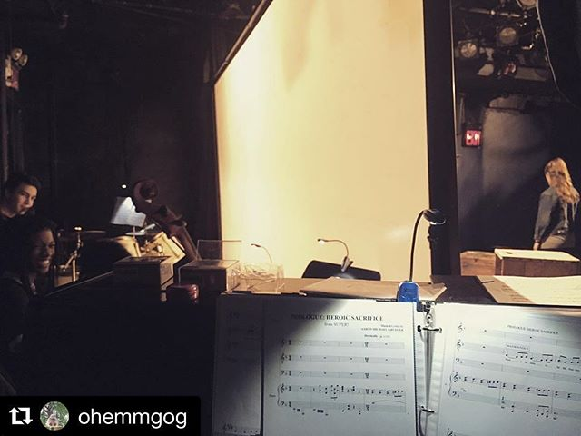 Come see this amazing cast including a stellar band perform #Super for one last time this Friday at the @sohoplayhouse in @fringenyc. #DoingSomethingSuper #FringeNYC #Fringe #NYC #Musical #OffBroadway  #Repost @ohemmgog ・・・ My favorite view 🎹|🎭