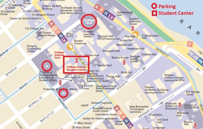 College Avenue Campus Map   autobedrijfmaatje