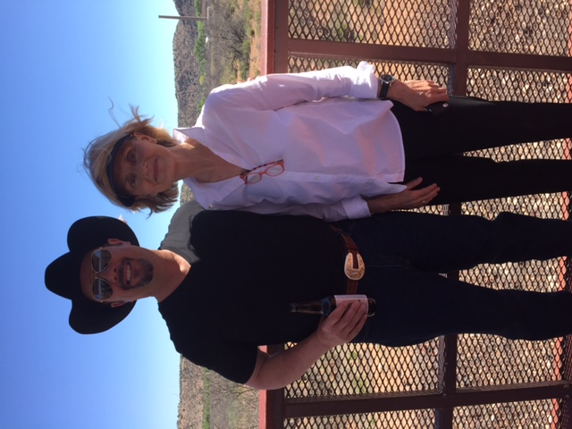 CJB and bestselling author Jacqueline Winspear were the guests of Poisoned Pen owner Barbara Peters on a lovely vintage train ride in Arizona.