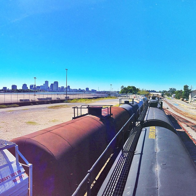 Last minute trespassing. NoLa, I'll miss you.  (at Poland Avenue Wharf)