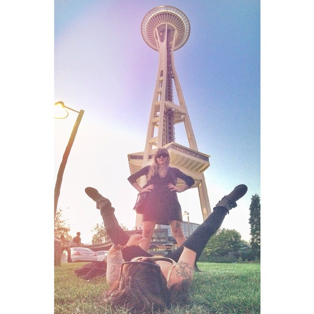 To the top! #seattlethreeway (at Space Needle)