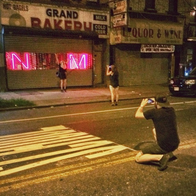 Flashbackception when Cass took a photo of me taking a photo of Nikk taking a photo of Natt standing within her initials after we ate all the cheese. #mets #cheese #youwerebornastreetratyoulldieastreetratandonlyyourfleaswillmournyou (at Noorman's Kil)
