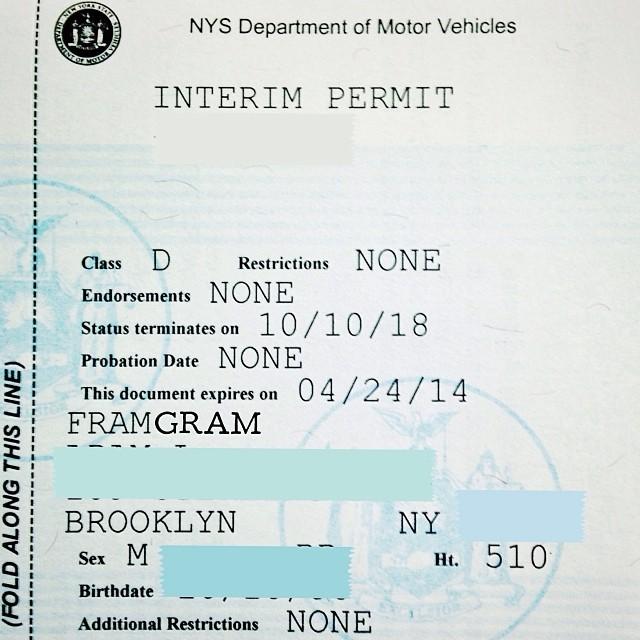 First try, 11 years late. #watchoutworld #roaddaddy #whoarethefivebestdriversofalltime (at New York State DMV)