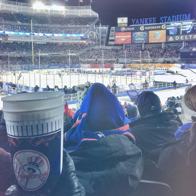 Sports! #yankeesstadium #rangers #frostbite (at Champion Suite Yankee Stadium)