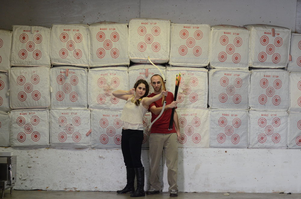 Me and my love getting our archery on for Valentine's Day