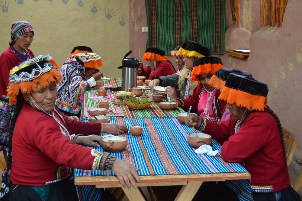 Homemade organic meals exemplifying the biodiversity of the Andean crops
