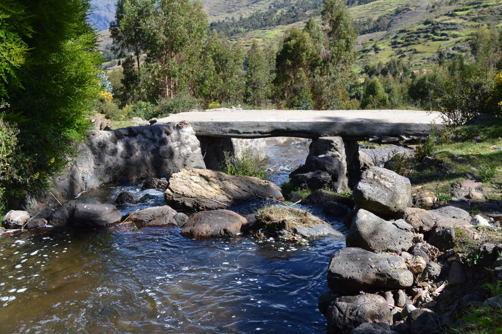 Stream passing through Paru Paru Community near Cusco, Peru