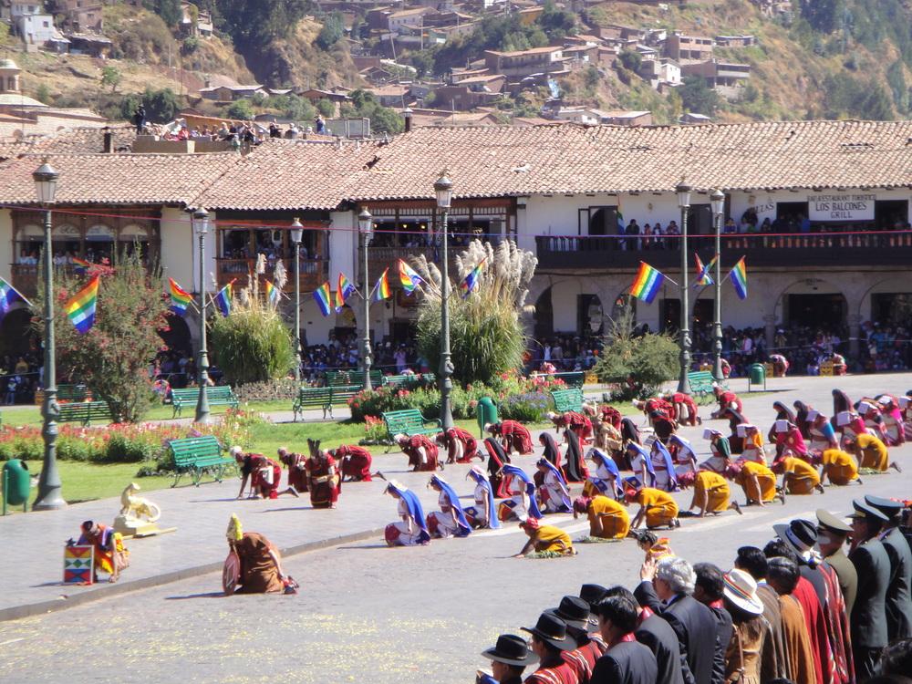 Inti Raymi festival, Cusco Plaza de Armas