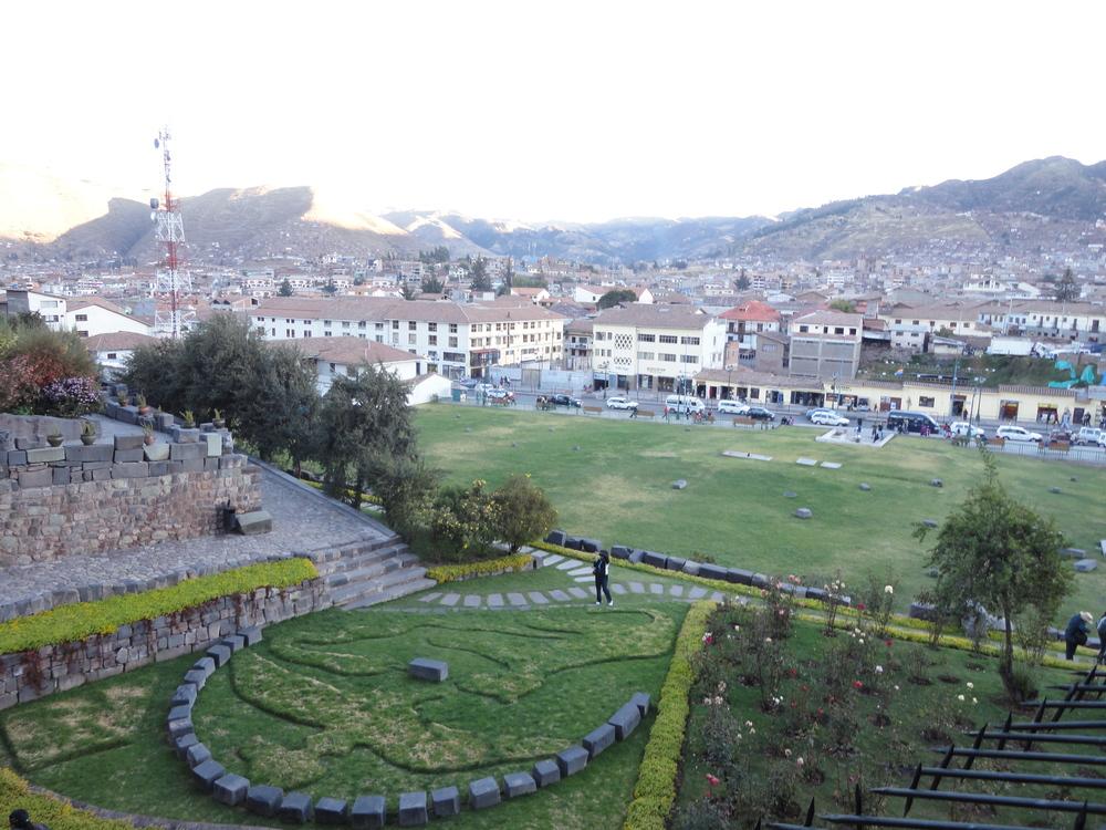 Q'oricancha gardens in Cusco