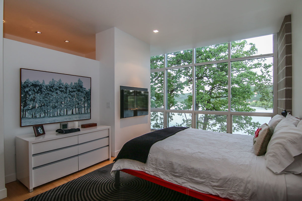 Luxury Master Suite With Fireplace master suite — modern living on lake wisconsin
