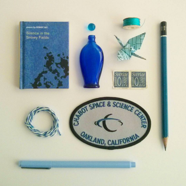 """Sentimental Knolling: Blue"""