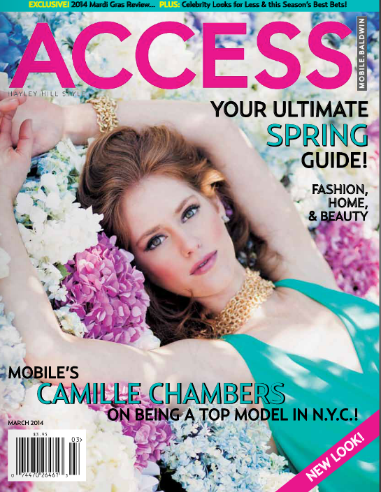 The image featured is the cover of  Access Magazine , a fashion and social magazine that is circulated online and in the Southeastern United States. The cover features accessories by  Urbane , Hartzog Consulting's affiliated company. Public relations strategy was successfully implemented to work toward making the brand relevant to the editors of the magazine.