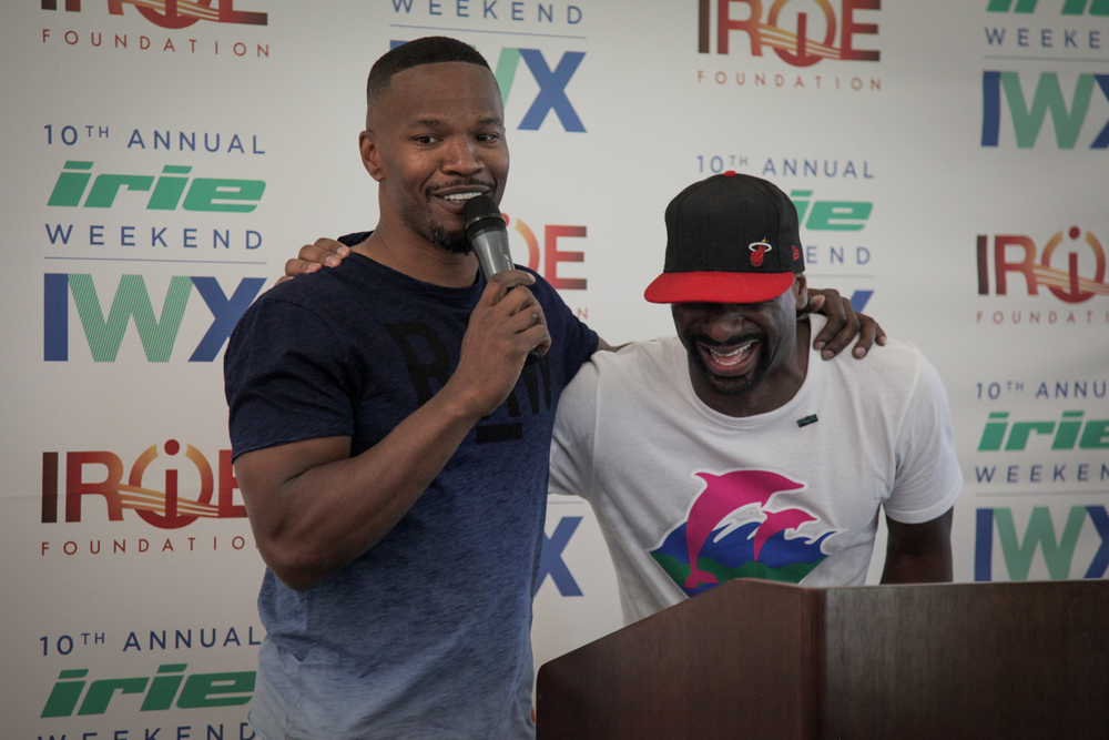 Youth Golf Clinic - Irie & Jamie with mic laughing.jpg