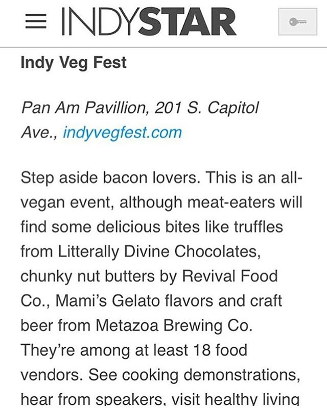 Hey guys! We're gonna be at @indyvegfest on April 28th! Come enjoy some yummy vegan gelato! 😍Thanks for the mention @indystar! 😍