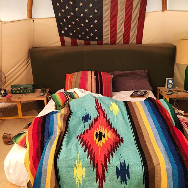 Waking up in a teepee at El Cosmico, Marfa.