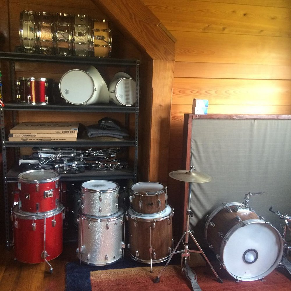 The drum arsenal continues to grow! Very excited about the new snares from the Drum Shop in Portland, ME  #Gretsch# CatalinaClub  #Ludwig #Acrolite (early 80's)