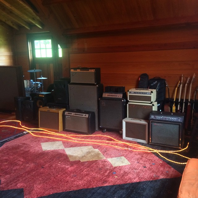 Babysitting some amps after last week's power outage #thefarmstudio