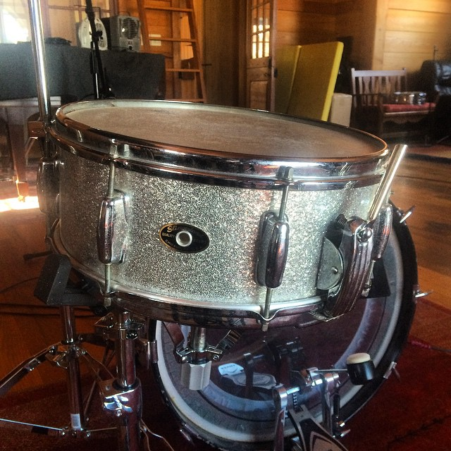 FINALLY fixed the throw-off on my 1958 Slingerland Radio King snare   #thefarmstudio  (at The Farm)