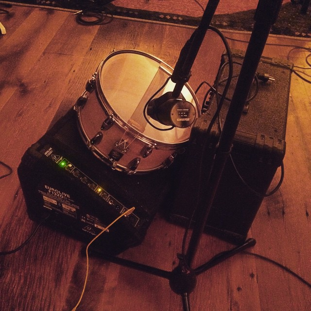 Putting the finishing touches on #Careers by reamping some snare #thefarmstudio (at The Farm)