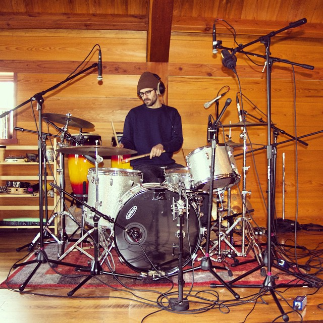 Tracking drums - my favorite activity   #sidesaddlemusic   #thefarmstudio