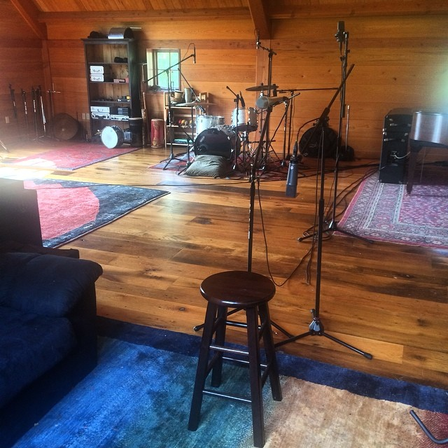 Saturday morning drum tracking #thefarmstudio (at The Farm)
