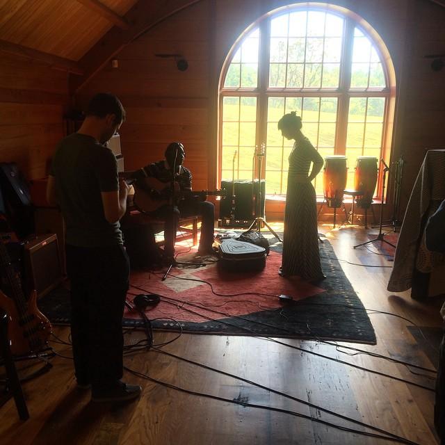 Morning rehearsing  #thefarmstudio