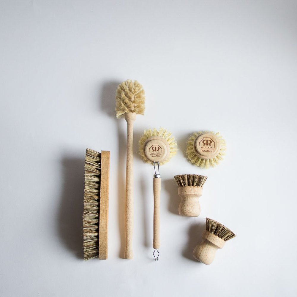 Compostable Wood Cleaning Brush Set