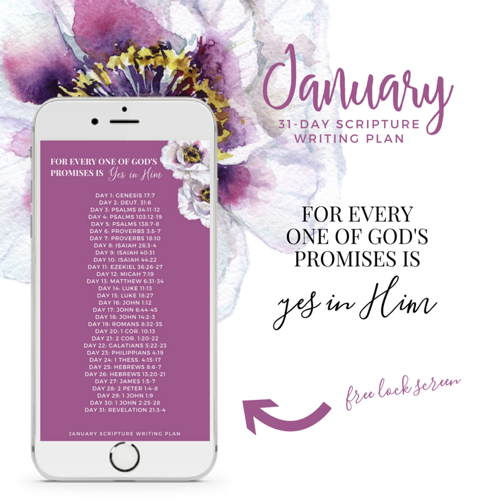 January Scripture Writing Plan - For Every One of God\'s Promises is ...