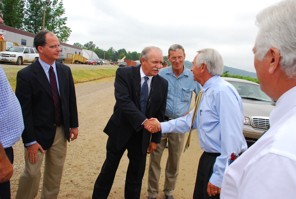 Mike with Governor Steve Beshear in 2009 after a meeting supporting the Industrial Foundation.
