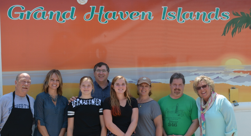 A few of our dental family at Grand Haven Island. Pictured with restaurant owner's, Bob Latour and Mark Jahsen. We had a great time!