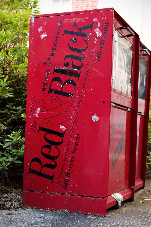 The school newspaper. Red & Black