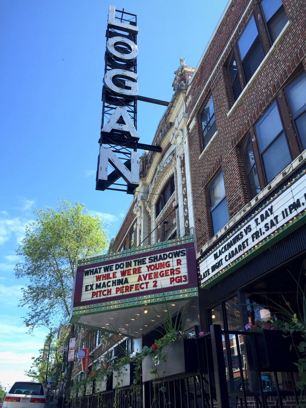 "Logan Theatre in the ""up and coming"" Logan Square neighborhood."