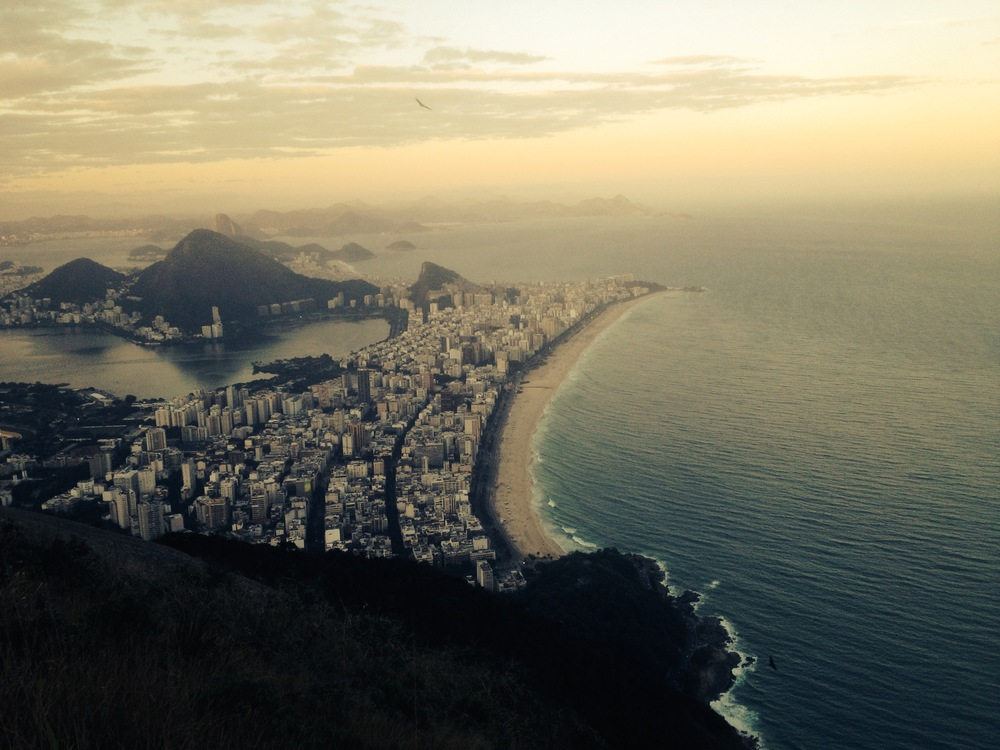 Sunset from Dois Irmao, in Rio de Janeiro