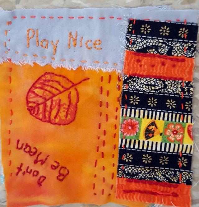 #day16 #100dayproject  #stitchmeditation #embroidery #orange