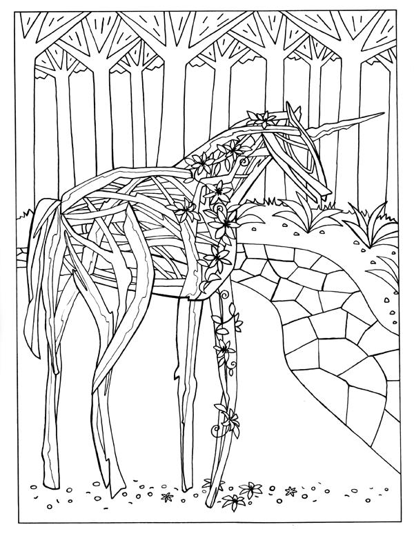 Twig Horse Sculpture