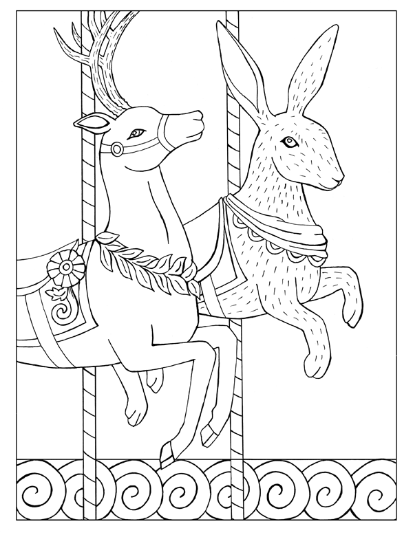 Deer and Rabbit Carousel