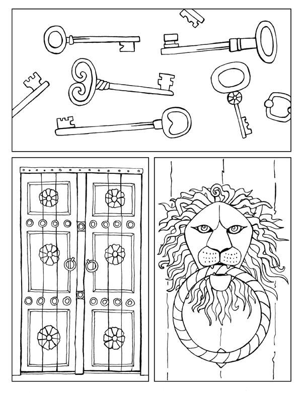 Keys and Door Tri Panel