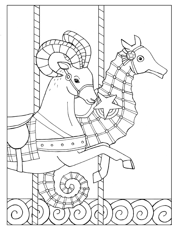 Goat and Seahorse Carousel
