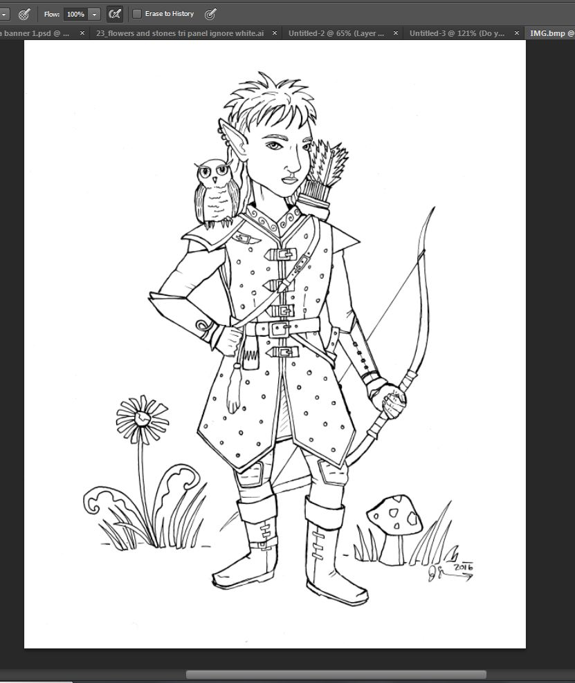 creating a coloring sheet the gnome ranger u2014 short leg studio