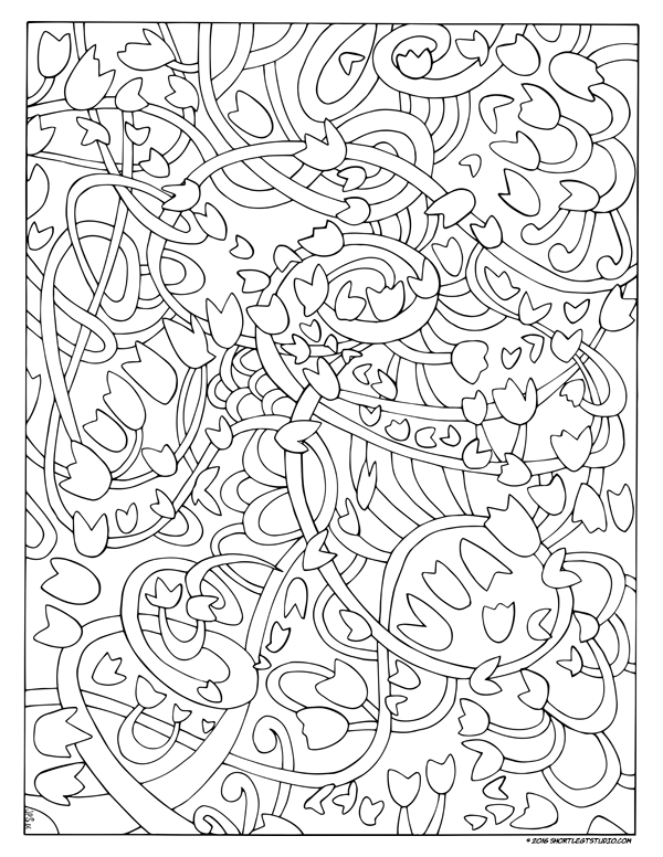 Dancing Wind Coloring Sheet