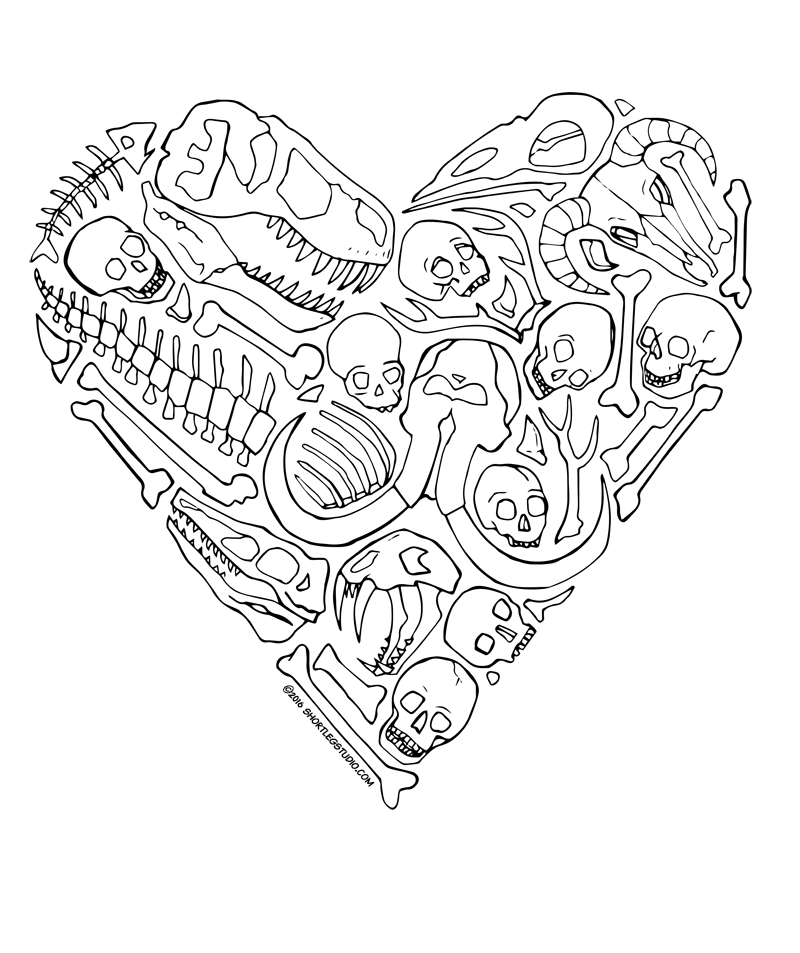 Heart of Skulls Valentine