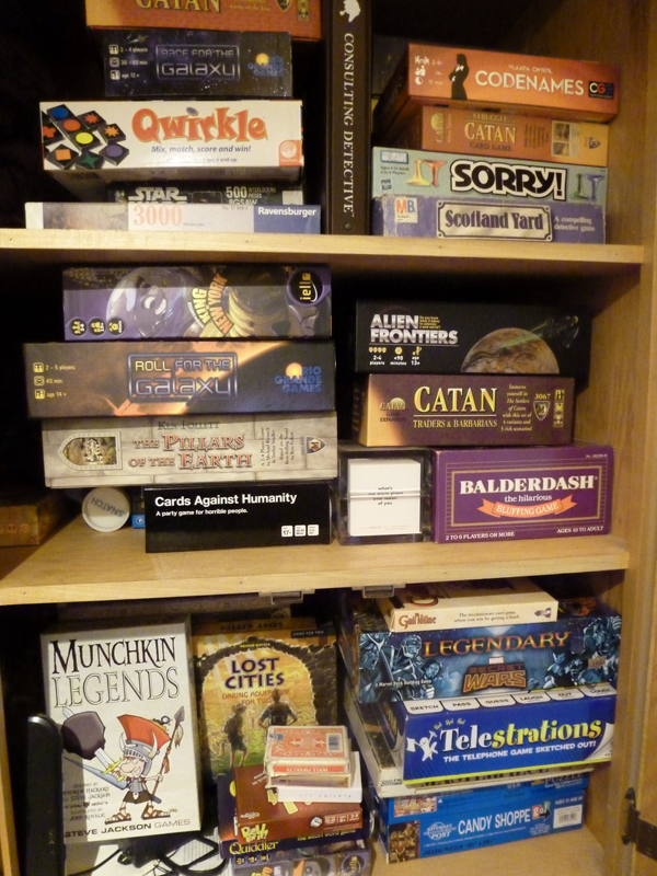 Just a small corner of our game closet!