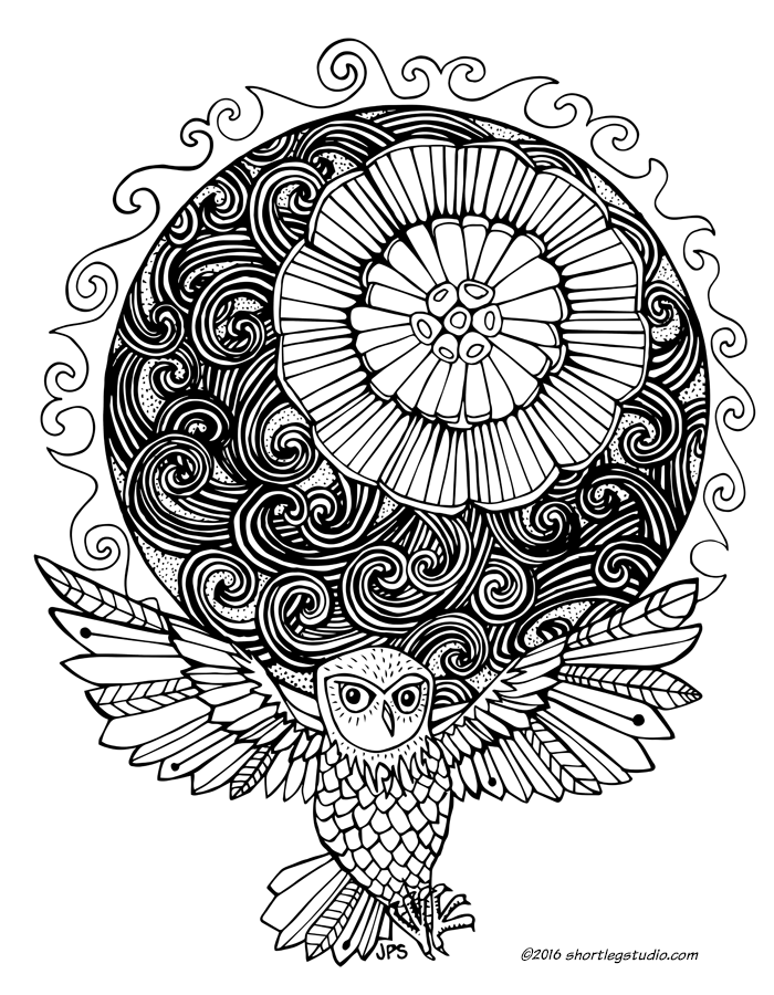 summer solstice with owl coloring sheet thumbnail.png